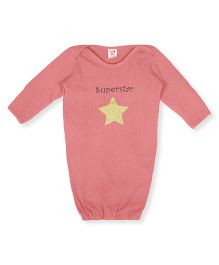Happy Kids Star Printed Night suit - Coral Pink