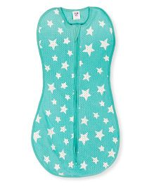 Happy Kids Star Printed Soft Swaddle - Sea Green