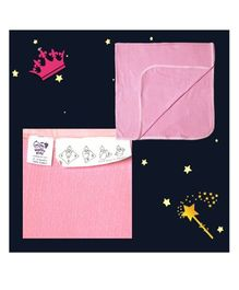 Happy Kids Solid Baby Wrapping Sheet - Pink