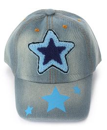 Little Hip Boutique Star Embroidered Baseball Cap - Blue