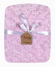 Little Hip Boutique Soft Mini Roses Blanket - Pink