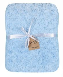 Little Hip Boutique Soft Mini Roses Blanket - Blue