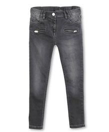 Barbie Full Length Jeans With Zippered Pockets - Grey