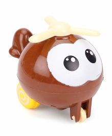 Baby Toy Helicopter - Coffee Brown