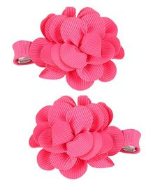 Mothercare Hair Clip Floral Corsage Pack Of 2 - Pink