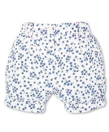Mothercare Shorts Allover Floral Print - White