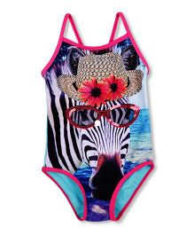 Mothercare Singlet Swimsuit Zebra Print - Multi Color