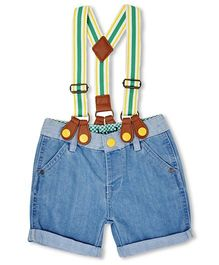 Mothercare Shorts With Suspenders - Blue