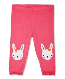 Mothercare Ankle Length Leggings With Bunny Patch - Pink