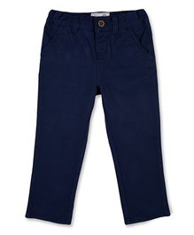 Mothercare Full Length Trouser With Elasticated Inner Waist - Navy