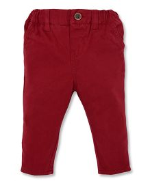 Mothercare Full Length Trouser With Elasticated Inner Waist - Maroon