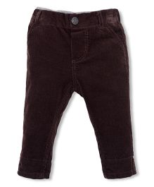 Mothercare Full Length Corduroy Pants With Elasticated Inner Waist - Brown
