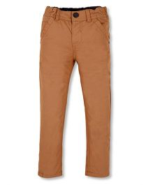 Mothercare Elasticated Trouser With Pockets & Belt Loops - Brown