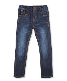 Mothercare Elasticated Jeans With Distressed Detailing - Blue