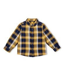 Mothercare Full Sleeves Shirt Checks Print - Yellow