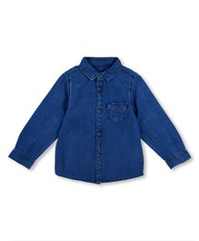 Mothercare Full Sleeves Denim Shirt - Blue