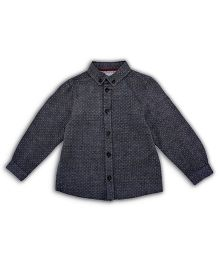 Mothercare Full Sleeves Dotted Shirt - Grey