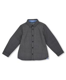 Mothercare Full Sleeves Printed Shirt - Black