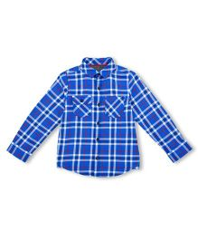Mothercare Full Sleeves Check Shirt - Blue White