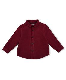 Mothercare Full Sleeves Shirt - Maroon