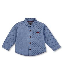 Mothercare Full Sleeves Shirt Triangle Print - Blue