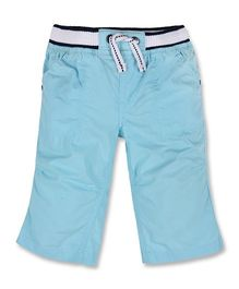 Mothercare Three Fourth Shorts With Elasticated Waist - Turquoise Blue
