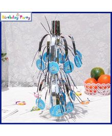 Funcart Prince Crown Theme Table Decoration - Blue