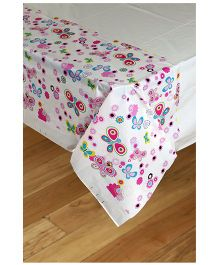 Funcart  Butterfly Design Table Cloth - Pink