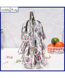 Funcart Baby Birthday Theme Table Decoration - Silver