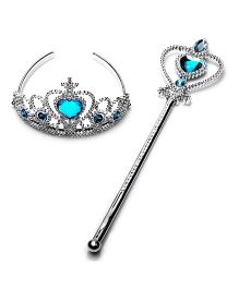 Funcart Crown Tiara And Wand - Blue