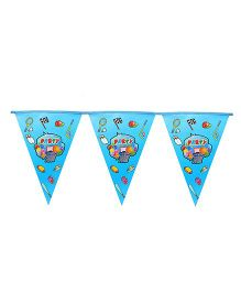 Funcart Sporty Party Flag Banner - Blue