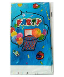 Funcart Sporty Party Table Cover - Blue