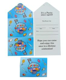 Funcart Sporty Party Invitation Card - Pack Of 8