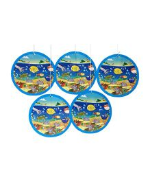 Funcart Under The Sea Theme Swirl Decoration Blue - Pack Of 5
