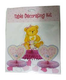 Funcart Baby Girl Honeycomb Ball Table Decor Pink - Pack Of 3