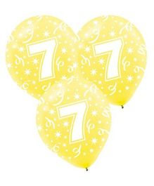 Funcart Number 7 Balloons - 10 Pieces