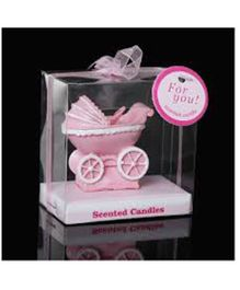 Funcart Baby Carriage Candle - Pink