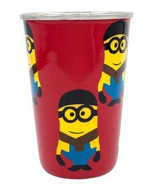 The Crazy Me Handpainted Minion Pattern Tumbler Red - Large