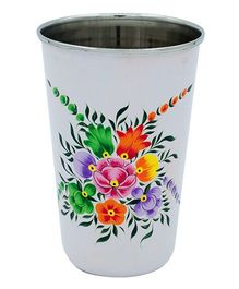The Crazy Me Handpainted Colorful Pattern Tumbler White - Large