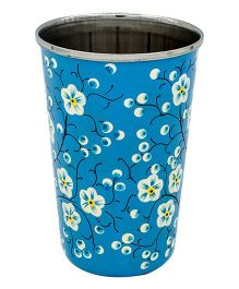 The Crazy Me Handpainted Mystical Nature Pattern Tumbler Blue - Large