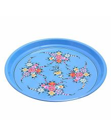 The Crazy Me Handpainted Stainless Steel Tray - Blue