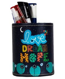 The Crazy Me Love Dream Hope Pen Stand - Navy
