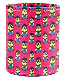 The Crazy Me Minions Pattern Pen Stand - Fuchsia