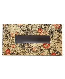 The Crazy Me Take Me Back Stamps Tissue Box Holder - Beige