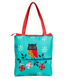 The Crazy Me Owl Tote Bag - Blue
