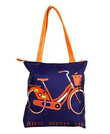 The Crazy Me Ride with Me Tote Bag - Royal Blue & Orange