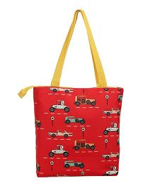 The Crazy Me Vintage Cars Tote Bag - Red