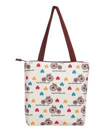 The Crazy Me Vintage Cycle Tote Bag - Off White