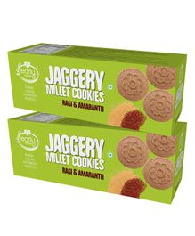 Early Foods Ragi & Amaranth Jaggery Cookies Combo - Pack Of 2