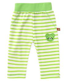 Wow Clothes Full Length Lounge Pants With Teddy Patch - Green